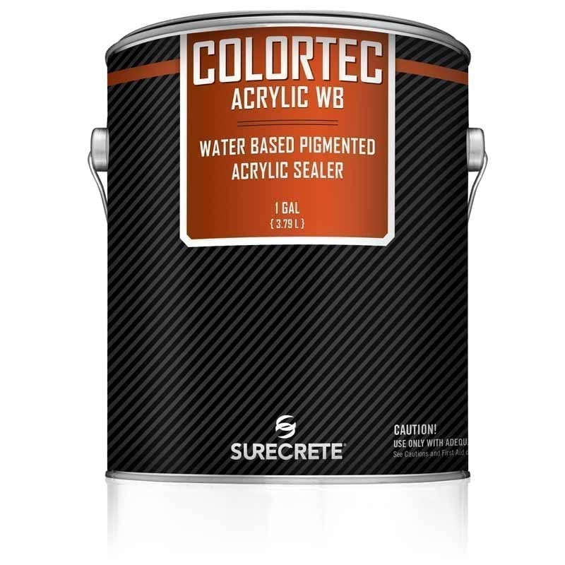 SureCrete Authorized Distributor AcrylicWB™ is a colored water-based outdoor concrete paint and sealer. Acrylic 30% solids, low VOC