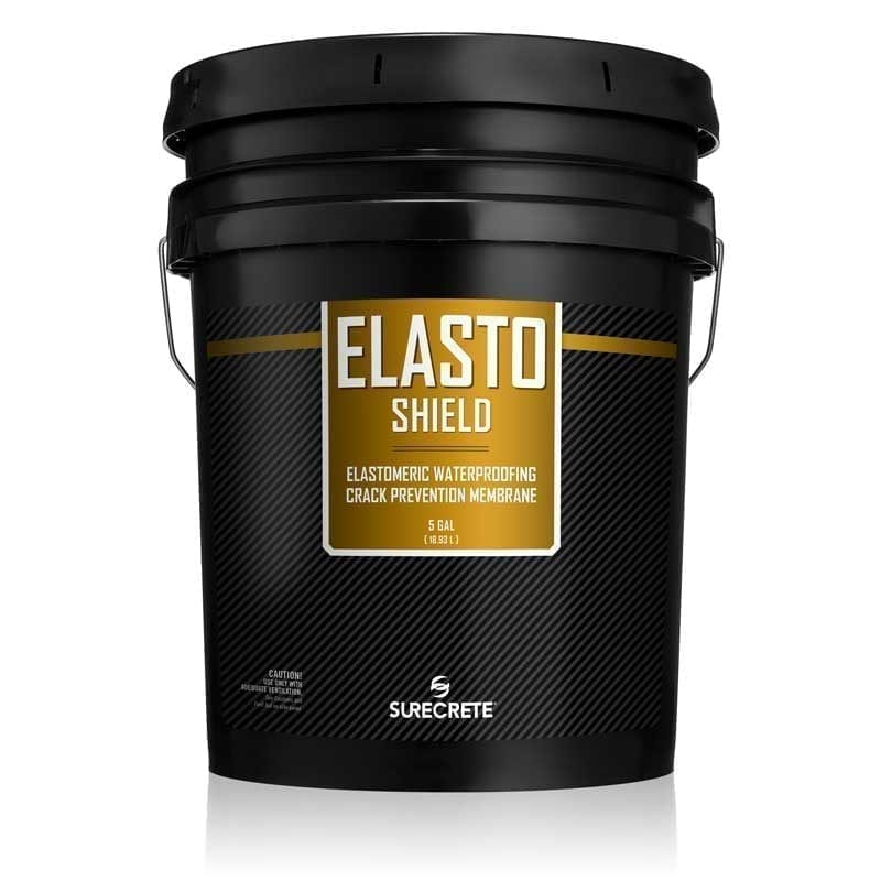 SureCrete Authorized Distributor ElastoShield™ by SureCrete is a ready-to-use concrete waterproofing and cracks prevention elastomeric liquid membrane