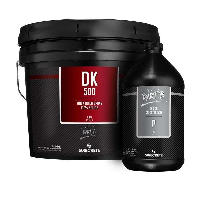 SureCrete Authorized Distributor DK 500™ SureCrete's Dura-Kote premium clear floor epoxy 100%