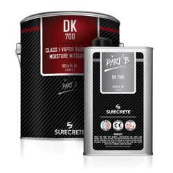 SureCrete Authorized Distributor SureCrete's DK 700 is a class 1 moisture barrier and vapor blocker for concrete floors