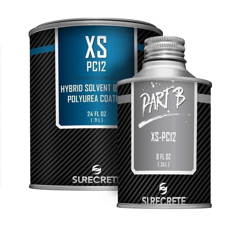 SureCrete Authorized Distributor XS Pc12™ is a solvent-based clear high gloss concrete casting sealer that is UV stable and easy to apply