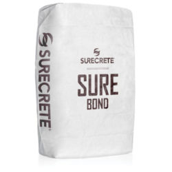 SureCrete Authorized Distributor SureBond™ a concrete bonding agent for overlays and cement repair products. SureBond is a just add water product available in a 50-pound bag in a white powder form