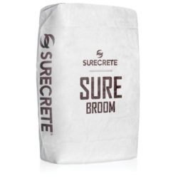 SureCrete Authorized Distributor SureBroom is a concrete broom overlay mix that comes in a gray or white mix. Patio or driveway concrete overlay