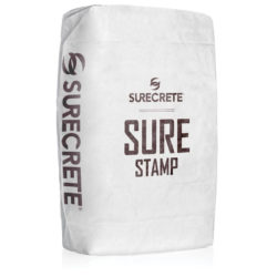 SureCrete Authorized Distributor SureStamp is a stamp concrete overlay that is a single component, just add water that can be colored easily with any of our 30 standard stamp overlay color