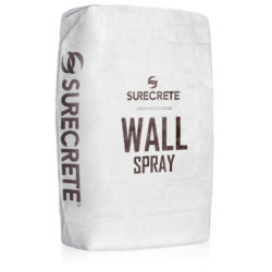 SureCrete Authorized Distributor WallSpray is a lightweight thin concrete wall spray overlay mix that can resurface or texture virtually any vertical surface