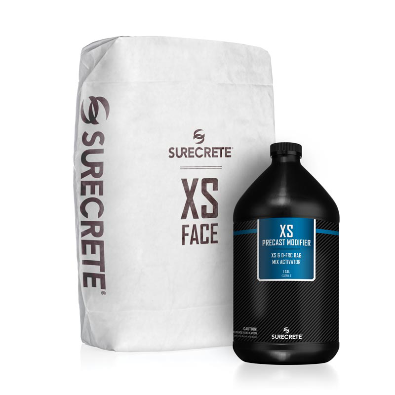 SureCrete Authorized Distributor XS GFRC Face Mix is a dual component cement based bag mix that perfectly reads the mold or casting surface providing a near flawless precast casting