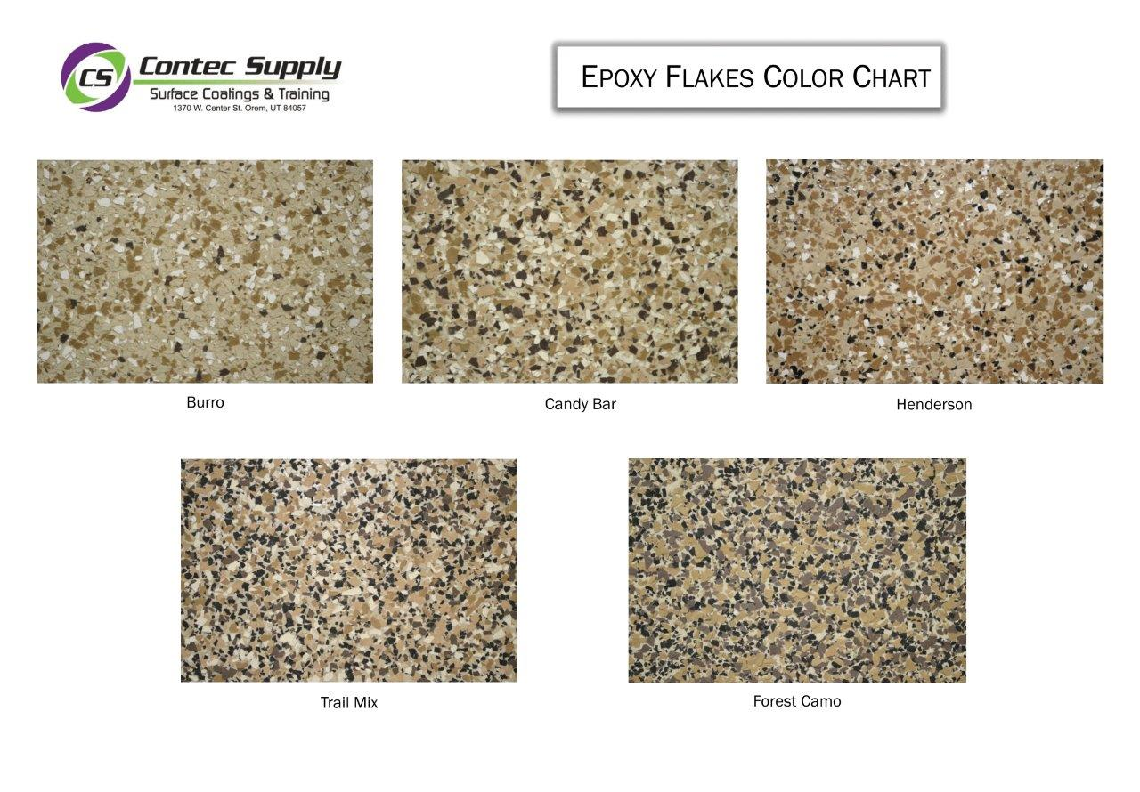Contec Supply Flakes Color Chart